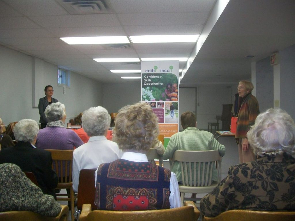 Gowanstown-Peace Women's Institute (Guelph Area) held a ROSE Session in October with a guest speaker from CNIB.